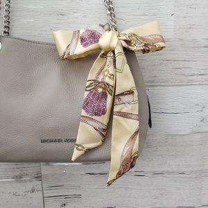 Trendy silk twilly purse scarf/ multi-use